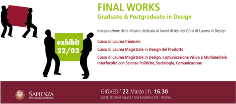 Final works design facolt di architettura for Laurea magistrale design