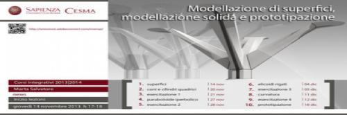 Modellazione di superfici, modellazione solida e prototipazione