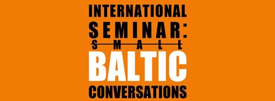 "Logo Seminario Internazionale ""Small Baltic Conversations"""